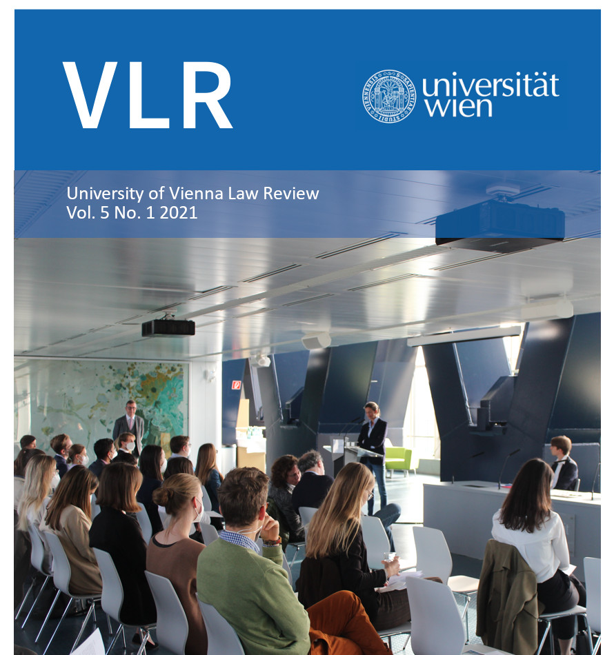 View Vol. 5 No. 1 (2021): University of Vienna Law Review